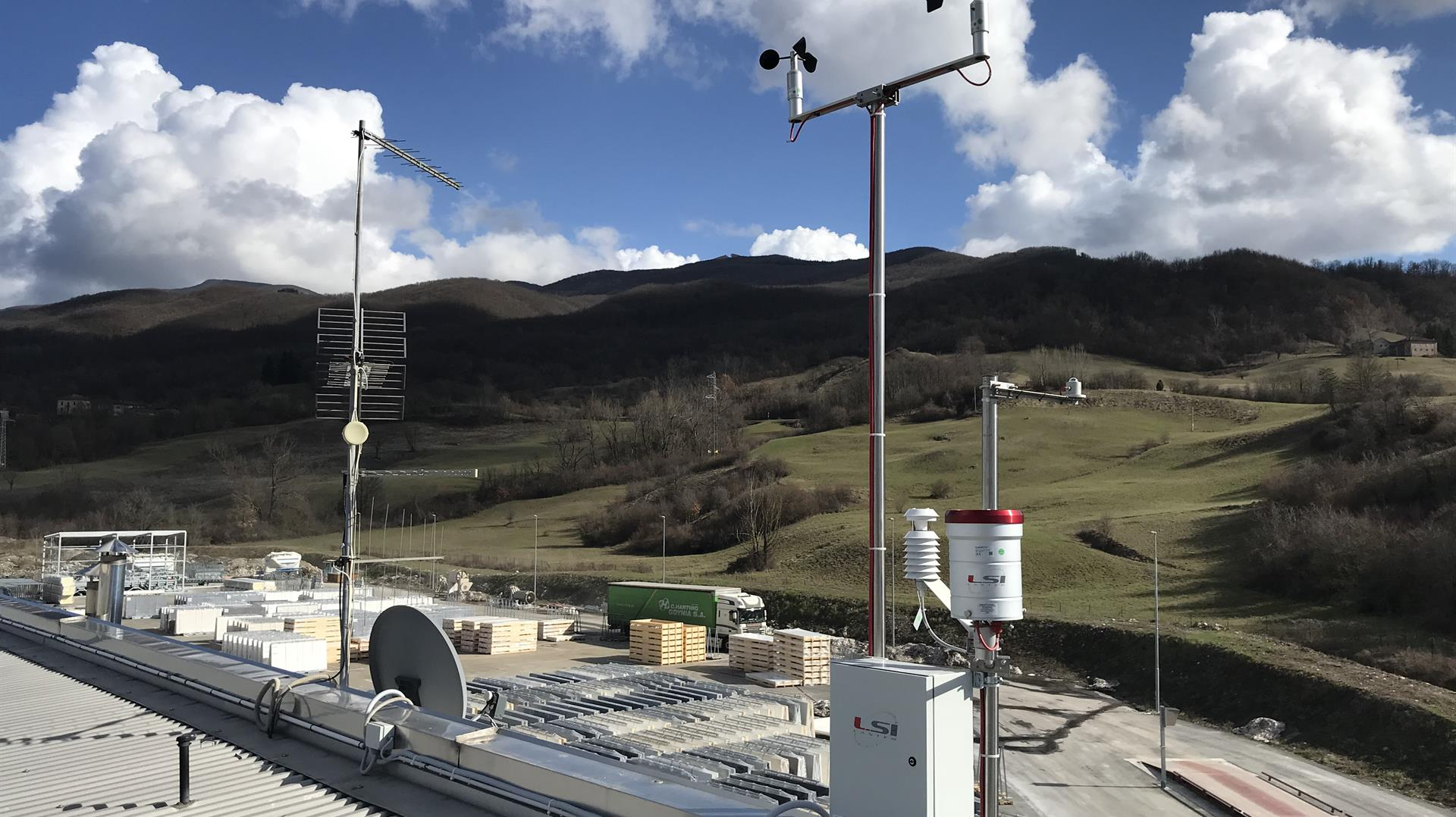 Environmental monitoring system at the LAMINAM production site in Borgo Taro (PR) – Italy.
