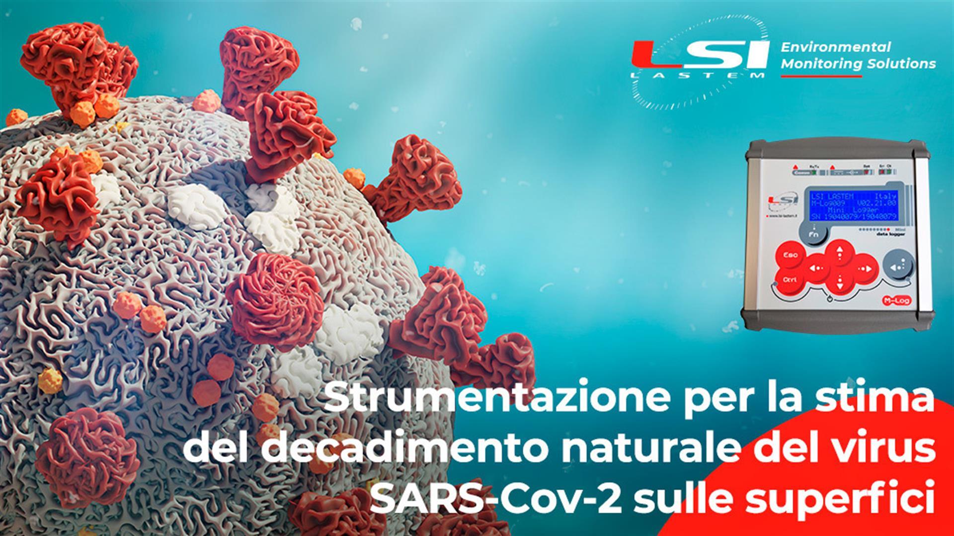 Stima del decadimento naturale del virus SARS-Cov-2 sulle superfici