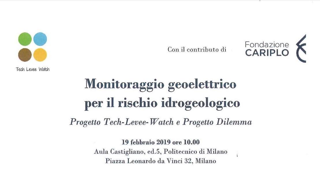 """Workshop """"Monitoraggio geoelettrico per il rischio idrogeologico"""""""