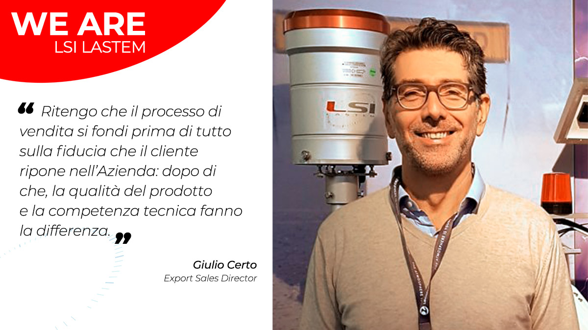 Due chiacchiere con Giulio Certo, Export Sales Director