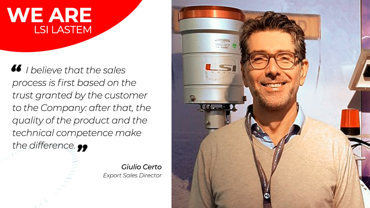 A little chat with Giulio Certo, the Export Sales Director